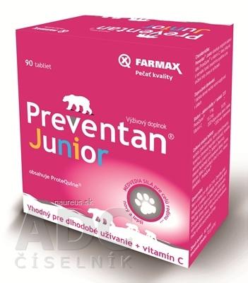 SVUS Pharma a.s. FARMAX Preventan Junior + vitamín C tbl 1x90 ks 90 ks