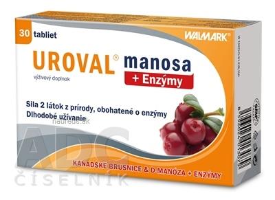 WALMARK, a.s. WALMARK UROVAL manosa + Enzýmy tbl 1x30 ks 30 ks