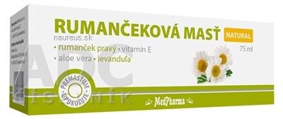 MedPharma, spol. s r.o. MedPharma RUMANČEKOVÁ MASŤ NATURAL 1x75 ml 75 ml