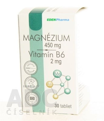 Ing. RNDr. Ivan Olejníček - MedinTerra EDENPharma MAGNÉZIUM + Vitamín B6 tbl 1x30 ks 30 ks