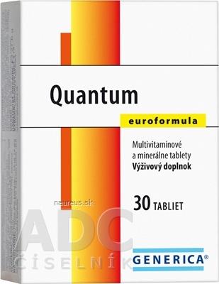 GENERICA spol. s r.o. GENERICA Quantum Euroformula tbl 1x30 ks 30 ks