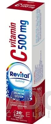 VITAR s.r.o. Revital vitamín C 500 mg šumivý tbl eff s príchuťou lesná jahoda 1x20 ks 20 ks