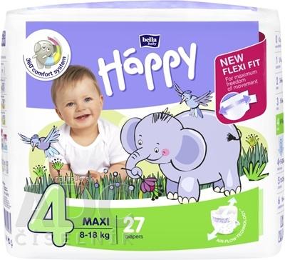 Torunskie Zaklady Materialow Opatrunkowych S.A. bella HAPPY 4 MAXI detské plienky (8-18 kg) 1x27 ks 27 ks