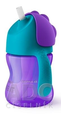 Philips Avent AVENT HRNČEK so slamkou 200 ml (0% BPA) od 9 mesiacov, s držadlami, dievča, 1x1 ks 200ml