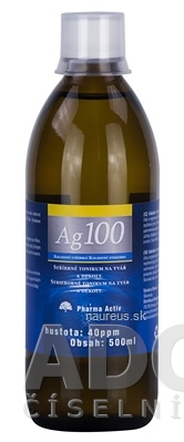 Ľubomír Drgáň - TRIX Pharma Activ Koloidné striebro Ag100 hustota 40ppm, 1x500 ml 500 ml
