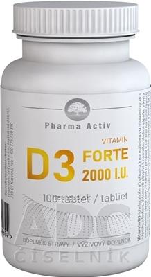 ADITIVA CZ, s.r.o. Pharma Activ Vitamin D3 FORTE 2000 I.U. tbl 1x100 ks