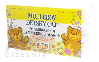 Dr. Müller Pharma s.r.o. Müllerov DETSKÝ ČAJ bylinný čaj 20x1,5 g (30 g) 20 x 1.5 g
