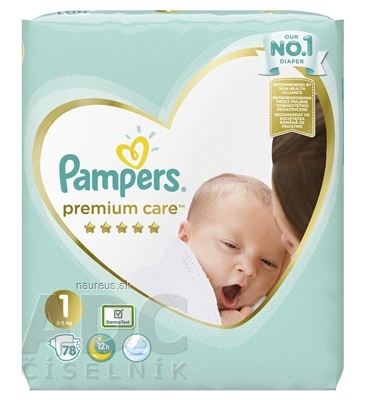 PROCTER & GAMBLE PAMPERS PREMIUM CARE VP 1 Newborn 78 ks