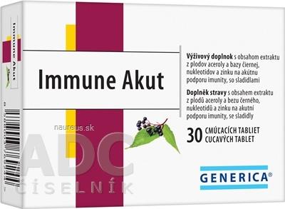 GENERICA spol. s r.o. GENERICA Immune Akut cmúľacie tablety tbl 1x30 ks 30 ks
