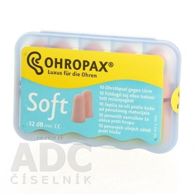 OHROPAX SOFT Ušné vložky v plastovom obale 1x10 ks