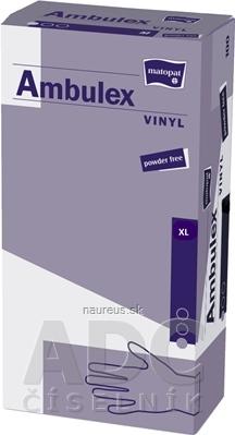 Torunskie Zaklady Materialow Opatrunkowych S.A. Ambulex rukavice VINYLOVÉ veľ. XL, nesterilné, nepudrované 1x100 ks