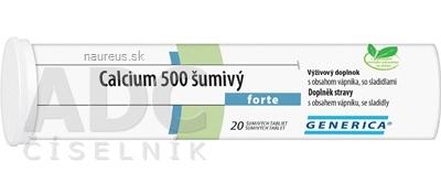 GENERICA spol. s r.o. GENERICA Calcium 500 forte tbl eff 1x20 ks