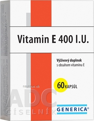 GENERICA spol. s r.o. GENERICA Vitamin E 400 I.U. cps 1x60 ks 60 ks
