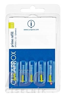 CURAPROX CPS 011 prime refill svetlozelená medzizubné kefky bez držiaka 1x5 ks