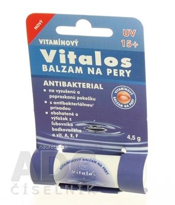 VITALOS Balzam na pery antibakterial SPF 15 vitamínový 1x1 ks