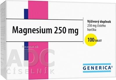 GENERICA spol. s r.o. GENERICA Magnesium 250 mg tbl 1x100 ks 100 ks
