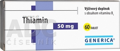 GENERICA spol. s r.o. GENERICA Thiamin 50 mg tbl 1x60 ks 60 ks