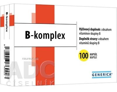 GENERICA spol. s r.o. GENERICA B-komplex cps 1x100 ks 100 ks