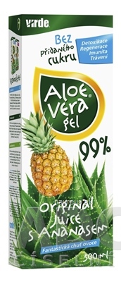 VIRDE spol. s r.o. VIRDE ALOE VERA gél s ananásom šťava 1x500 ml