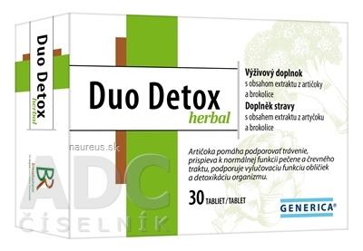 GENERICA spol. s r.o. GENERICA Duo Detox herbal tbl 1x30 ks 30 ks
