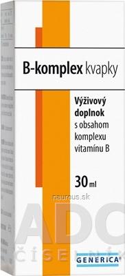 GENERICA spol. s r.o. GENERICA B-komplex kvapky 1x30 ml 30 ml