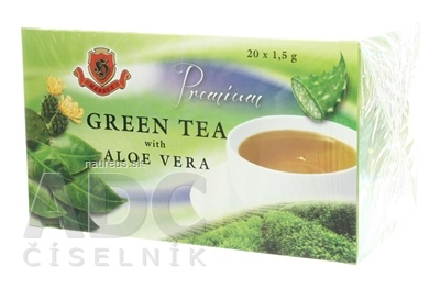 HERBEX spol. s r.o. HERBEX Premium GREEN TEA S ALOE VERA zelený čaj 20x1,5 g (30 g) 20 ks