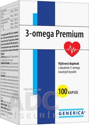GENERICA spol. s r.o. GENERICA 3-omega Premium cps 1x100 ks 100 ks