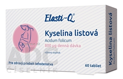 Simply You Pharmaceuticals a.s. Elasti-Q KYSELINA LISTOVÁ 800 μg tbl 1x60 ks 60 ks
