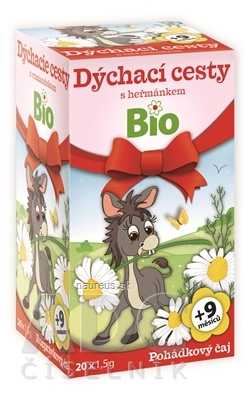 MEDIATE s.r.o. APOTHEKE ROZPRÁVKA Dýchacie cesty s rumančekom Bio bylinný čaj (od ukončeného 9. mesiaca) 20x1,5 g (30 g)