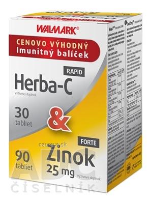 WALMARK, a.s. WALMARK Herba-C RAPID + Zinok FORTE 25 mg tbl 30 ks + 90 ks (120 ks)