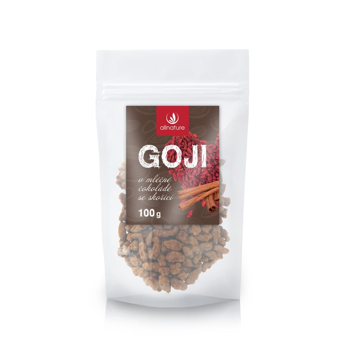 Allnature Goji v mliečnej čokoláde so škoricou 100 g 100 g