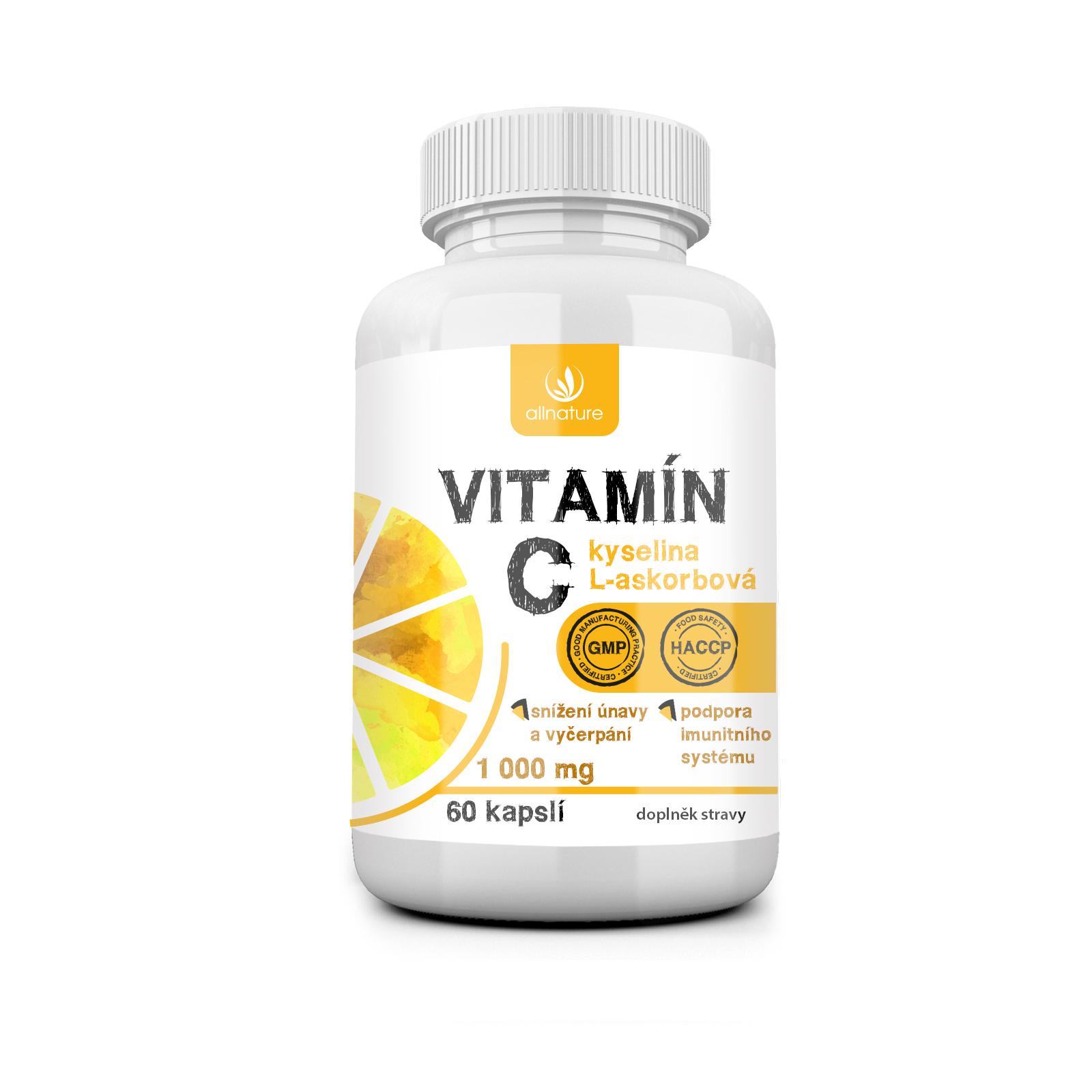 Vitamín C 1000 mg 60 kapslí