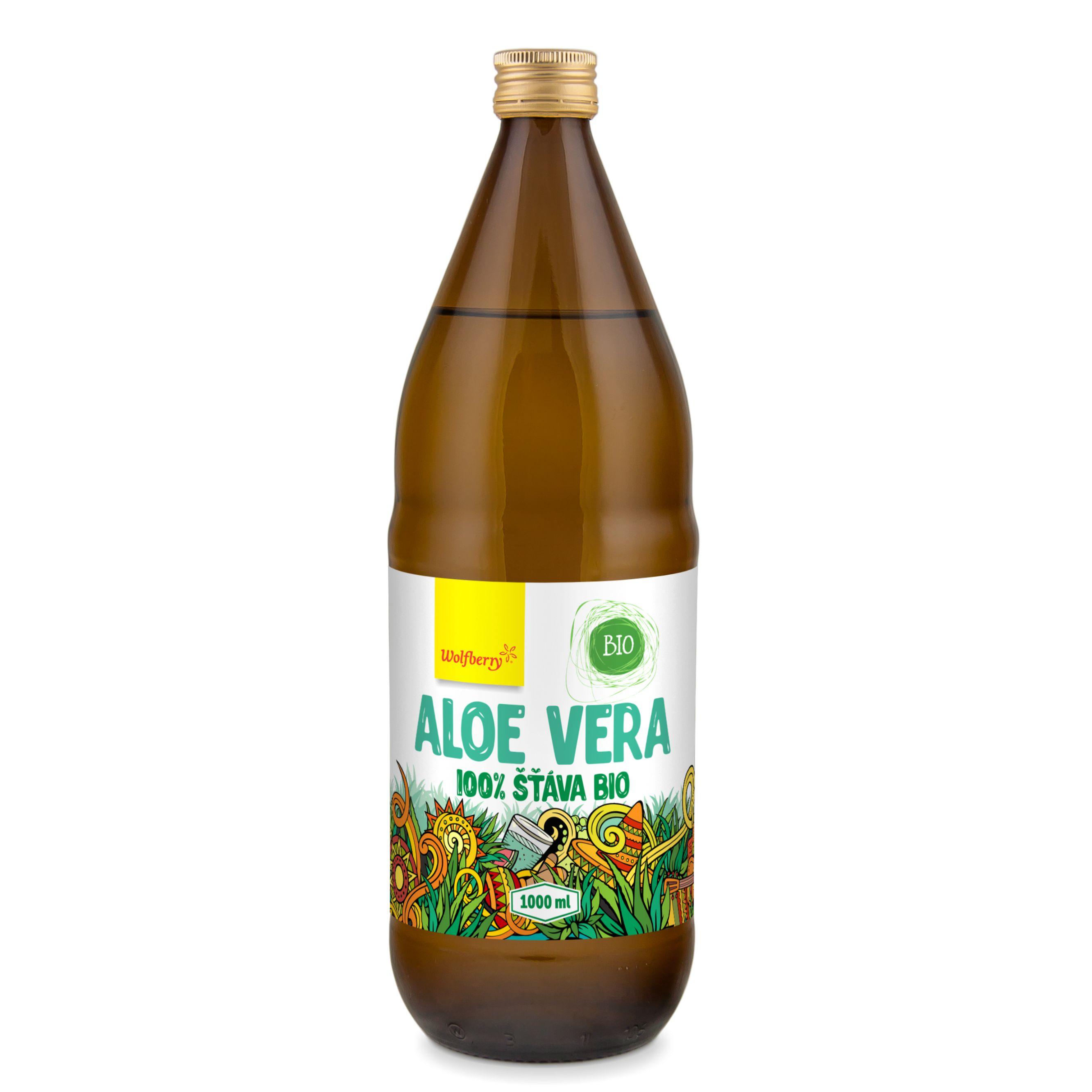 Wolfberry Aloe vera šťava 100% BIO 1000 ml Wolfberry 1000 ml