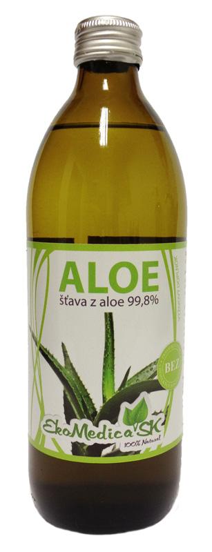 EkoMedica Šťava Aloe s dužinou 99,8% - 500 ml 500 ml