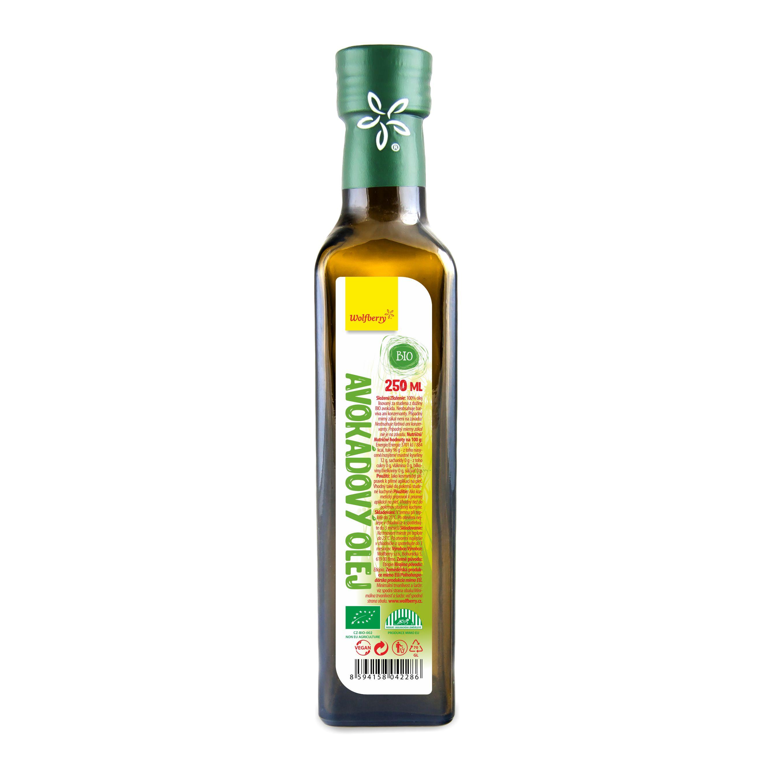 Wolfberry Avokádový olej BIO 250 ml Wolfberry 250 ml