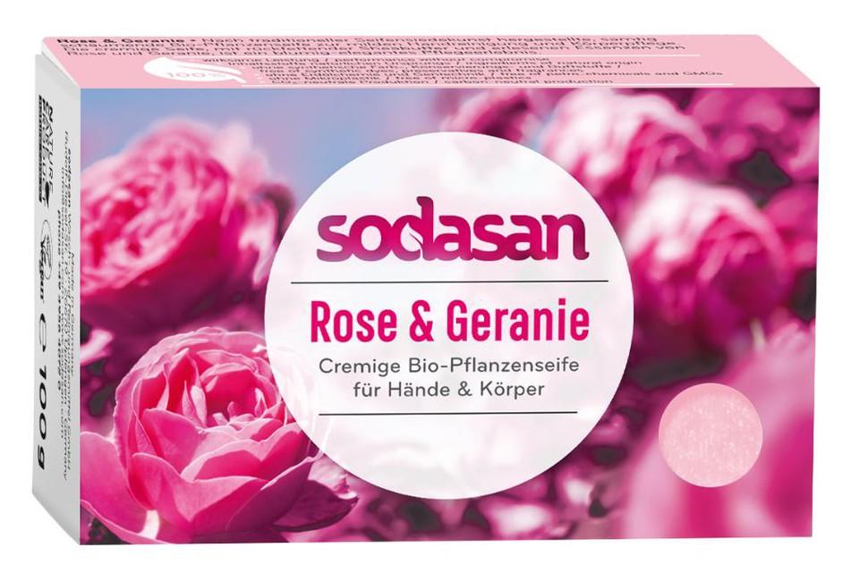SODASAN BIO pleťové mydlo Cream Divoká Ruža 100 g