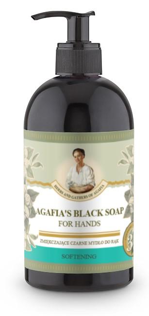 Recipes of Babushka Agafia Agafja zjemňujúce čierne mydlo na ruky 500 ml