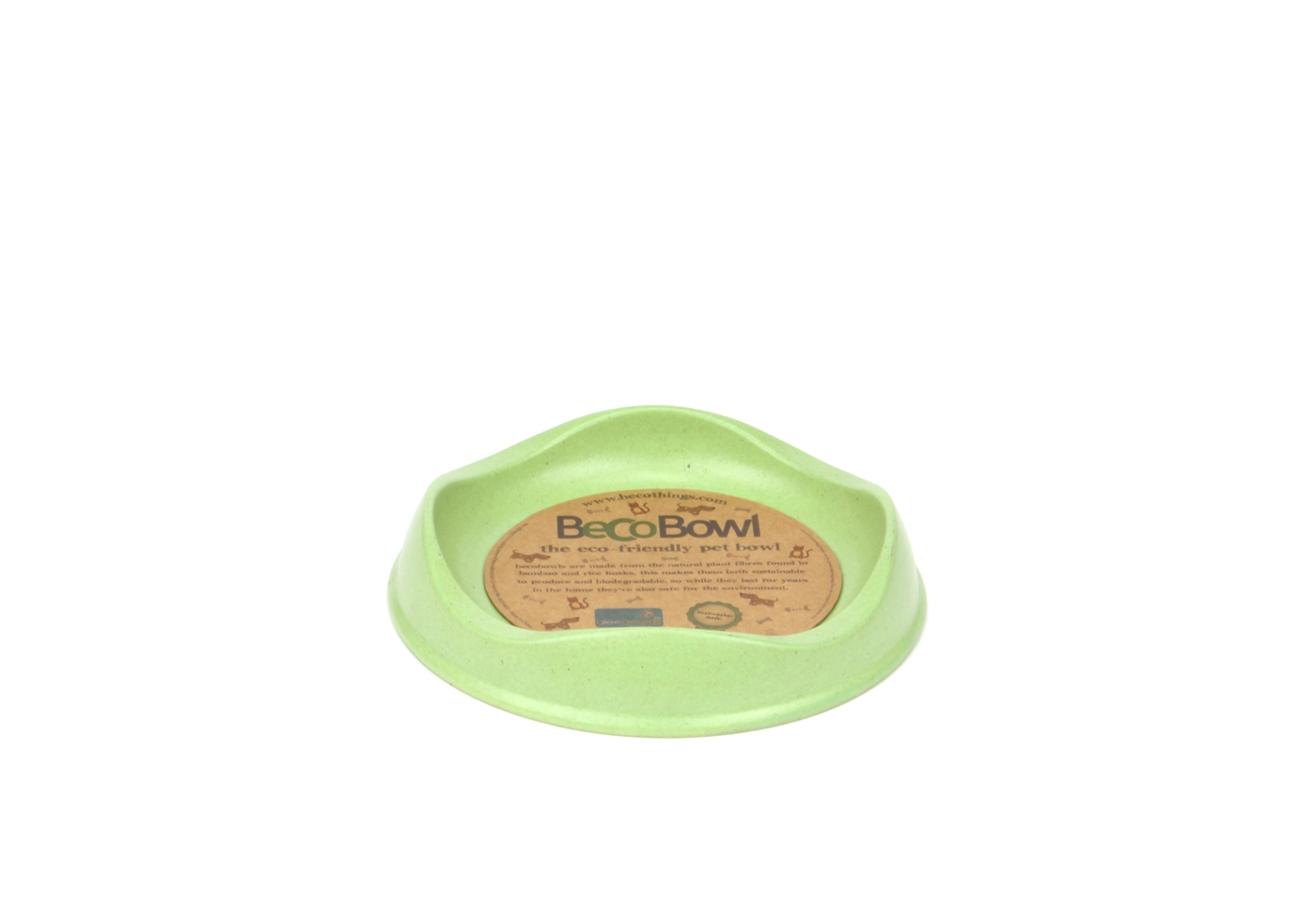 BeCoThings Miska pre mačku BecoBowl - zelená Cat, EKO 1 ks