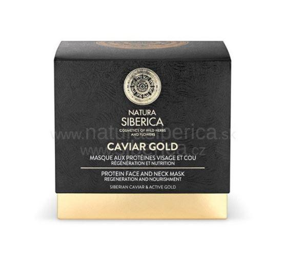 Natura Siberica Caviar Gold - Proteinová maska na tvár a krk 50ml