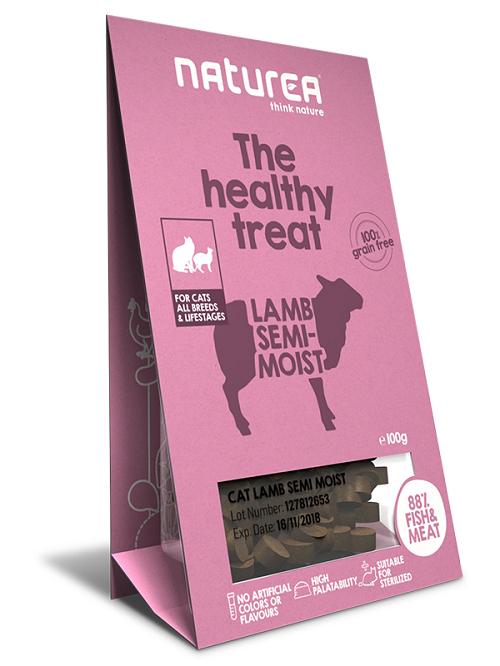 Naturea Doplnok výživy Naturea Treat - Jahňacie kúsky pre mačky, 100g 100 g