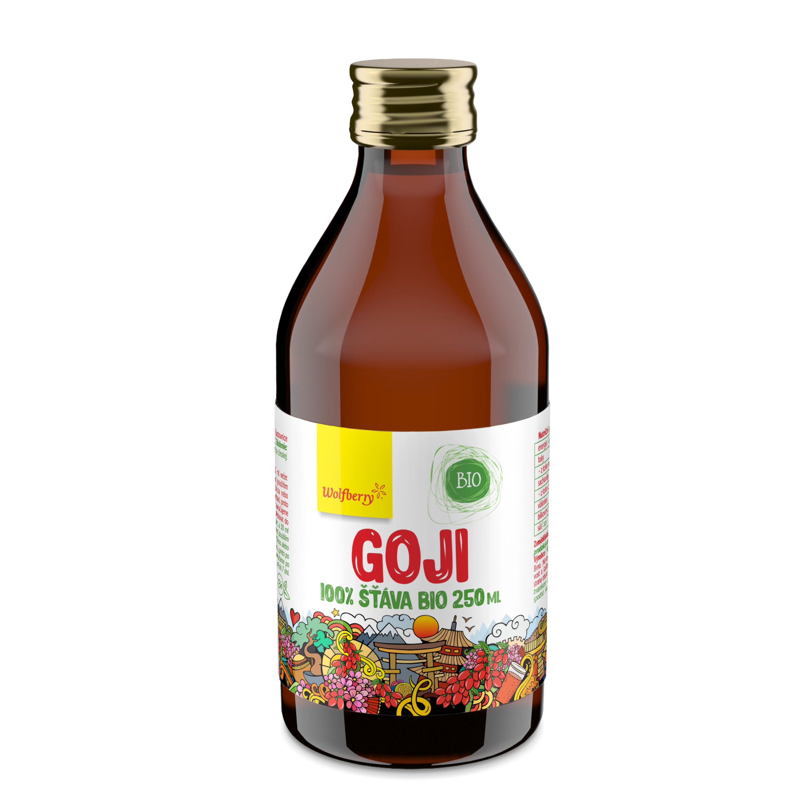Wolfberry WF Goji šťava BIO 250 ml Wolfberry * 250 ml