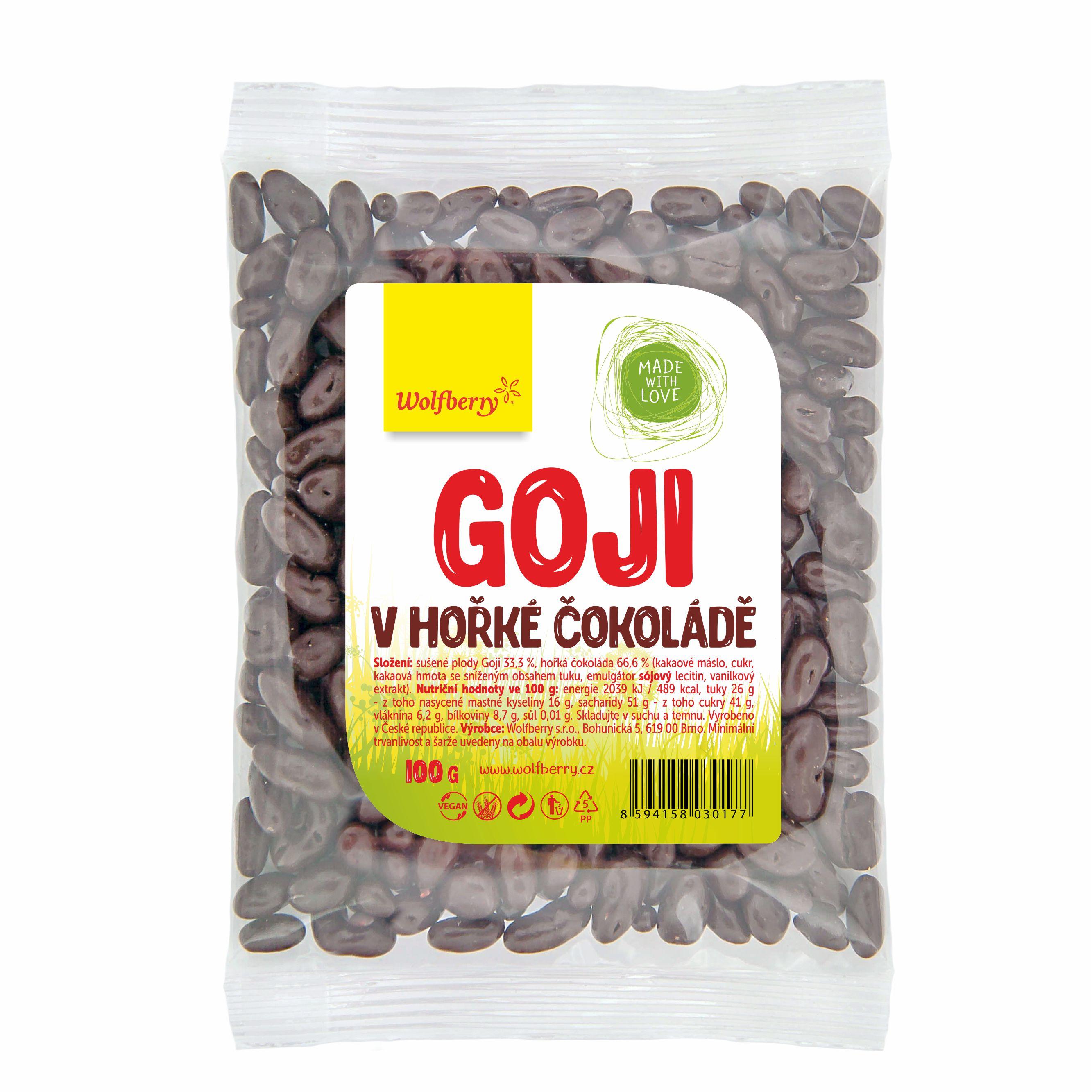 Wolfberry WF Goji v horkej čokoláde 100 g Wolfberry 100 g