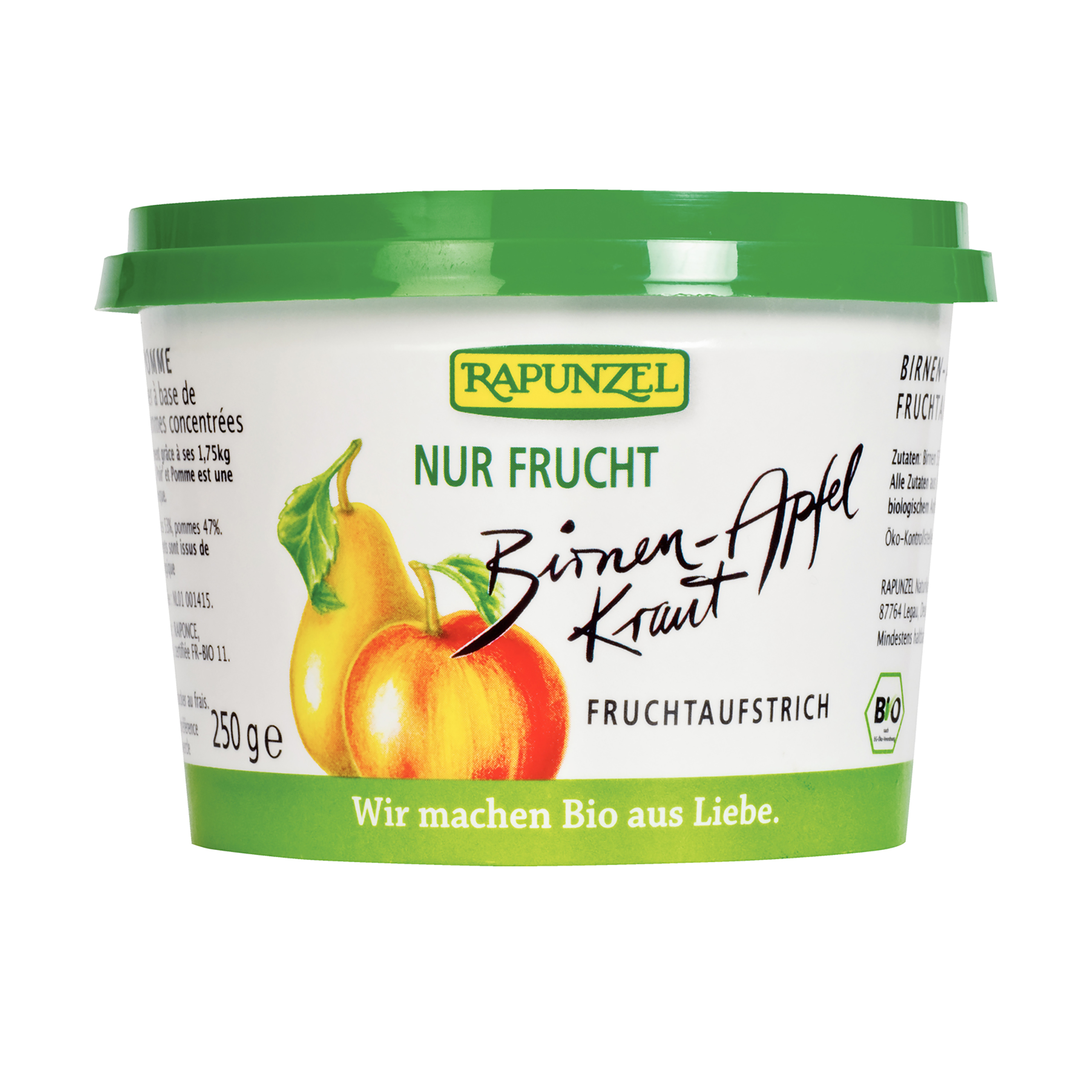 Hruškovo-jablčný lekvár bez cukru BIO 250 g Rapunzel *