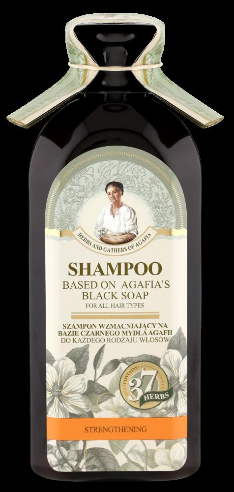 Posilňujúci šampón na báze čierneho mydla Agafja - pre všetky typy vlasov