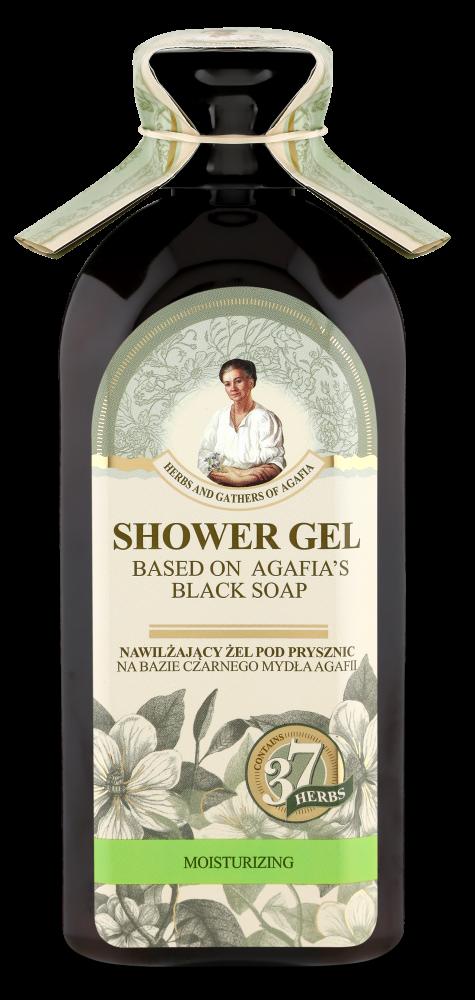 Recipes of Babushka Agafia Agafja hydratačný sprchový gél na báze čierneho mydla 350 ml
