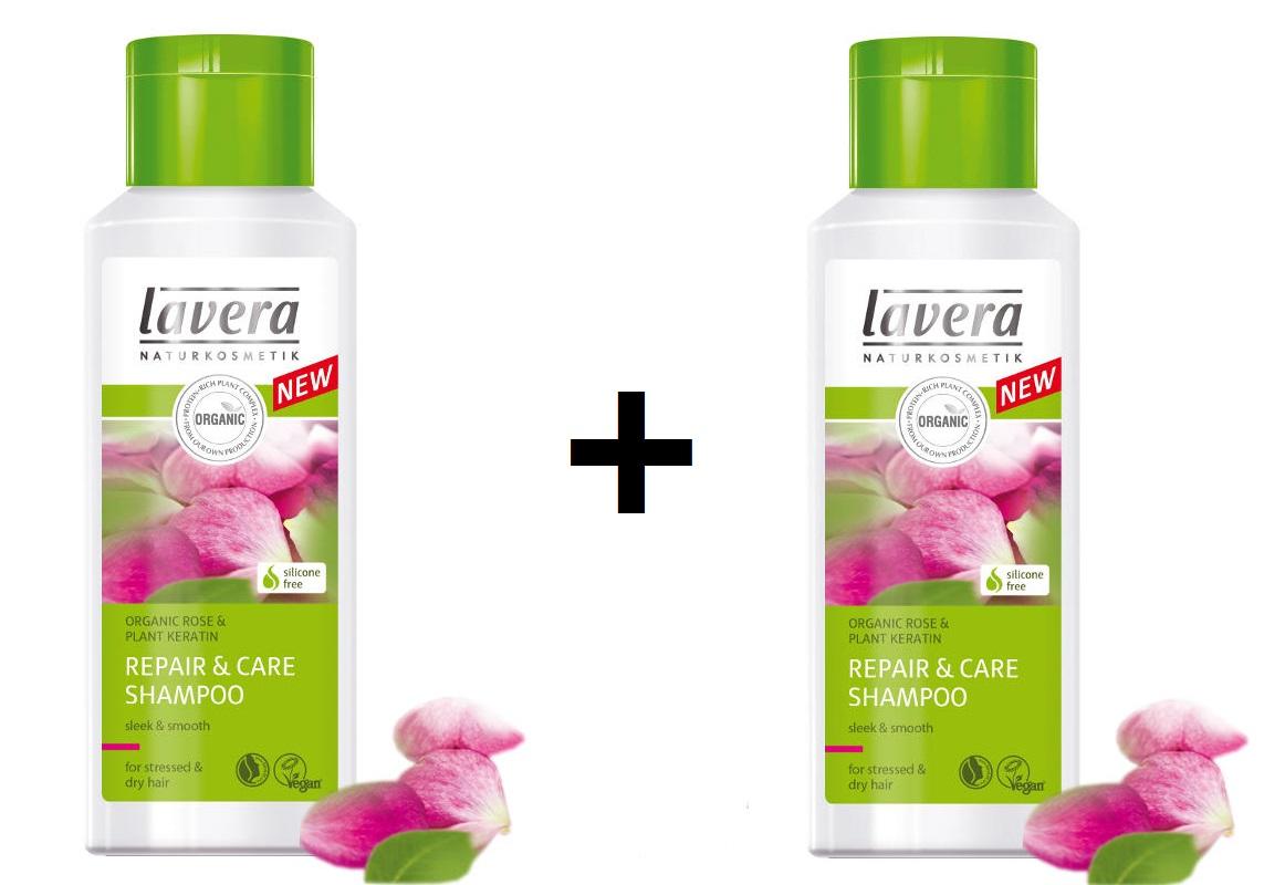 Šampón REPAIR & CARE na suché a namáhané vlasy 1+1