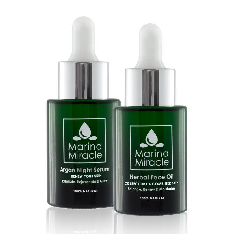 Veľké výhodné balenie Herbal Face Oil & Argan Night Serum