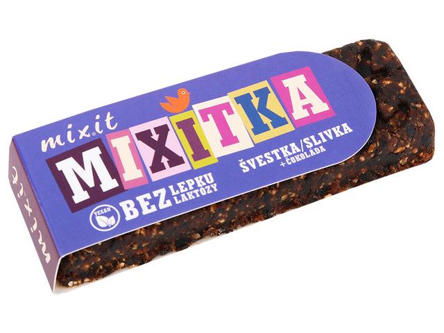 Mixitka BEZ LEPKU - slivka + čokoláda