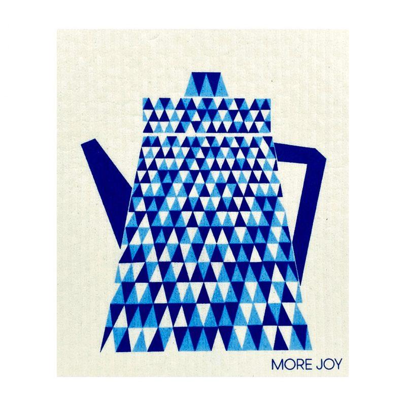 More Joy Modrý čajník - utierka