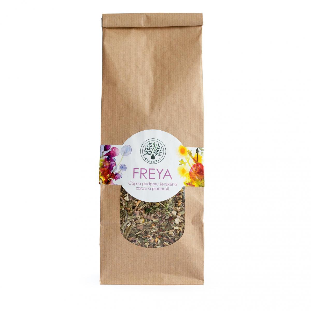 Bilegria FREYA - bylinná čajová zmes na podporu ženského zdravia a plodnosti, 100 g 100 g